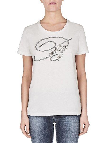T-Shirt aus Jersey mit gesticktem Logo