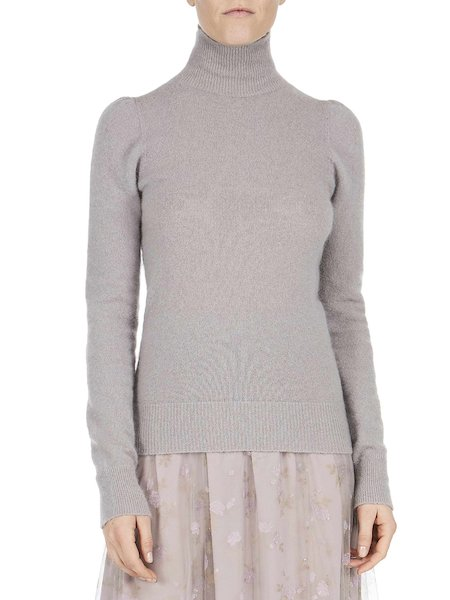 Sweater with mock-turtleneck - Grey
