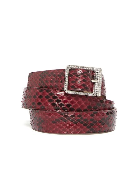 Snakeskin belt with rhinestones
