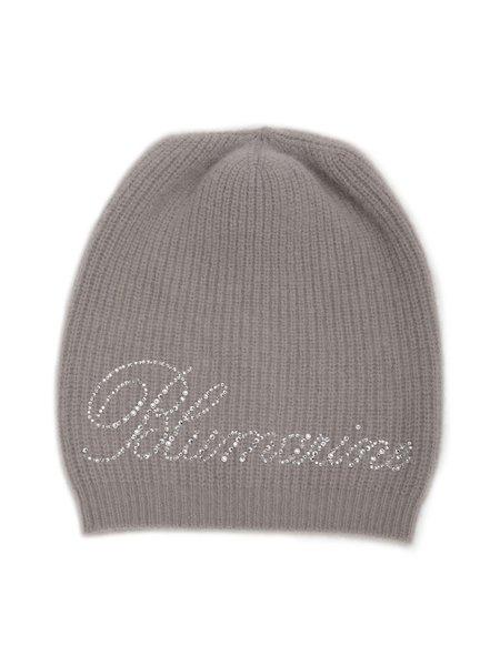 Bonnet en tricot orné du logo en strass