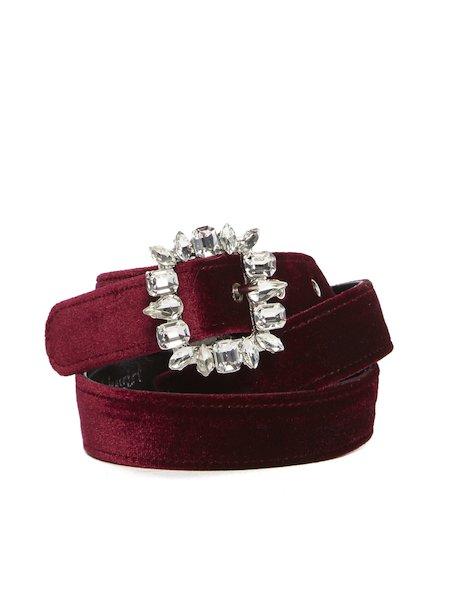 Cinturón de tejido con cristales