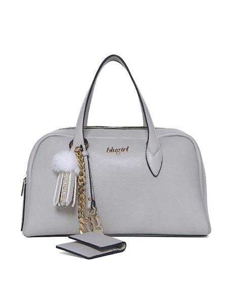 Handbag with handles and charms