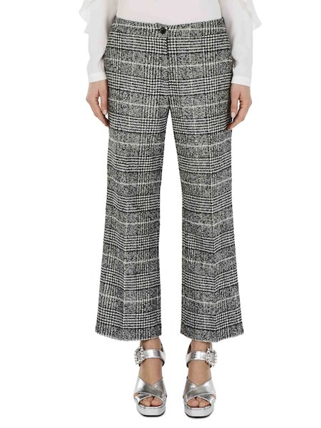 Cropped Glen Plaid trousers
