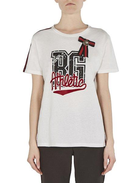 Bedrucktes T-Shirt mit Rosette