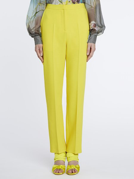 Cigarette-leg suit trousers