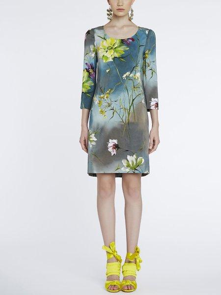 Vestido con estampado de flores - Grey