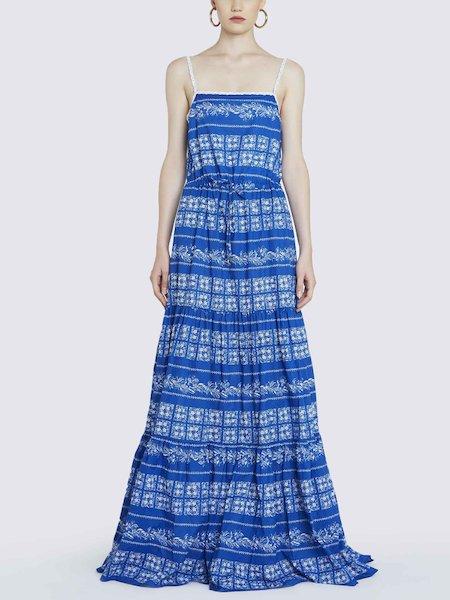 Длинное платье с принтом бандана