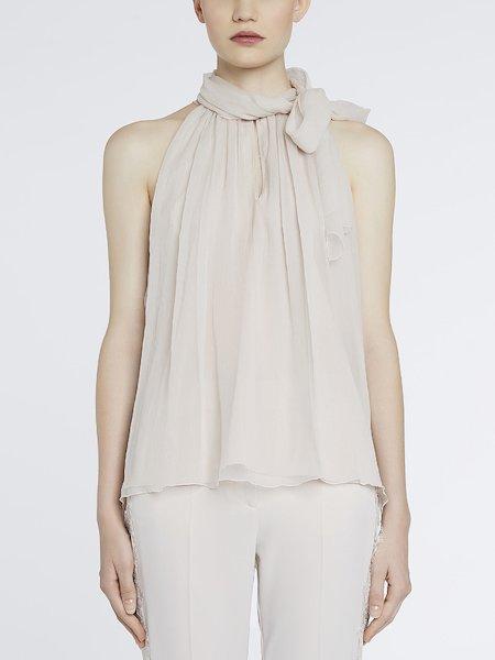 Шифоновая блуза с платком