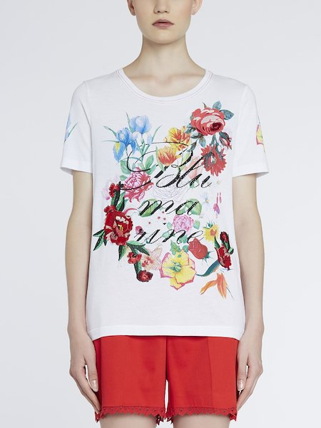 T-shirt printed with logo - white
