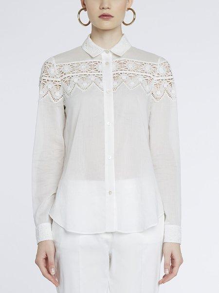 Рубашка из хлопка с кружевом