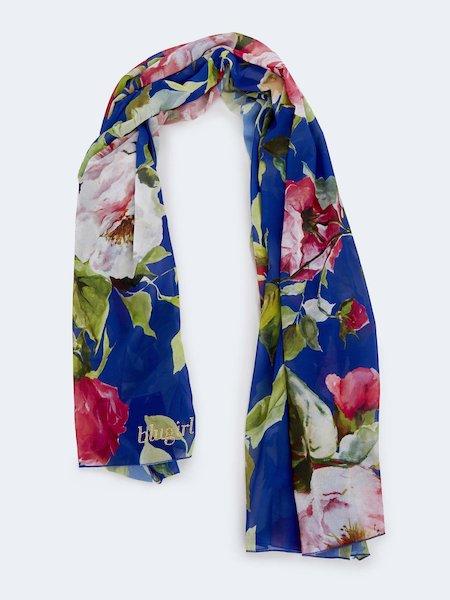 Schal mit Rosenprint