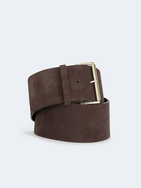 Belt in suede - Brown