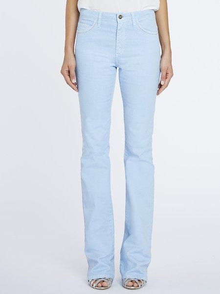 Pantalones de pitillo de algodón - Azul