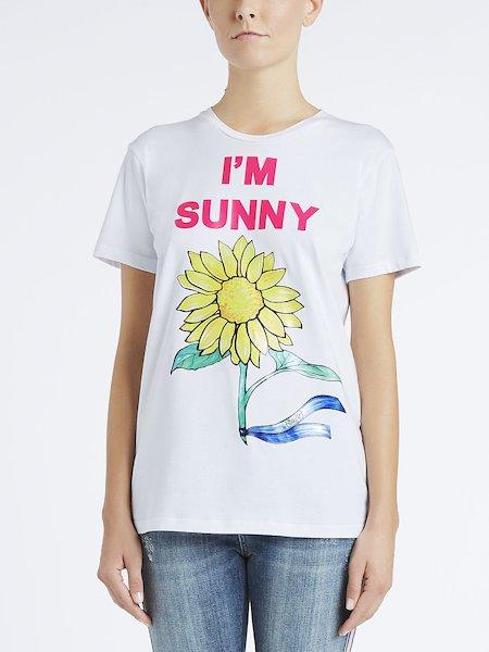T-shirt en coton imprimé I'm Sunny
