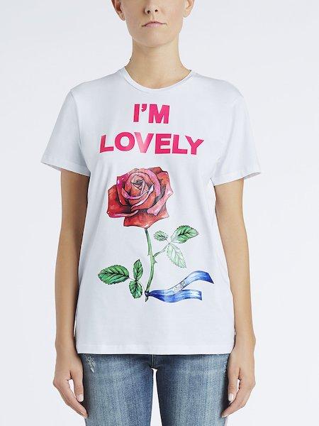T-Shirt aus Baumwolle mit Print I'm Lovely