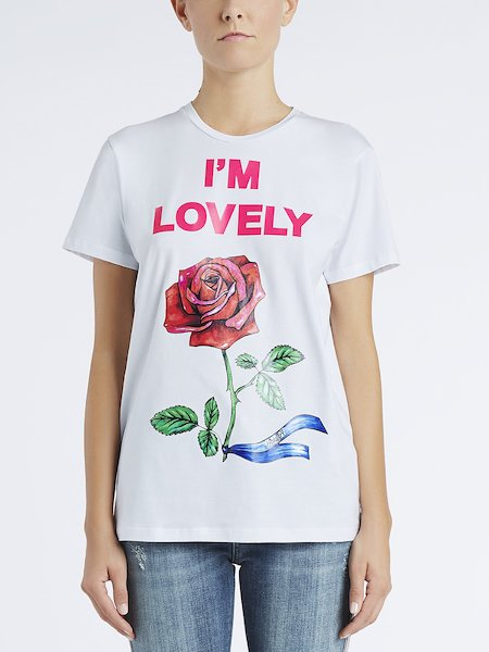 T-shirt in cotton with I'm Lovely print