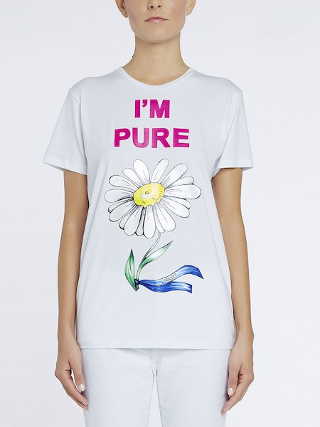 T-shirt in Cotone Stampa I'm Pure