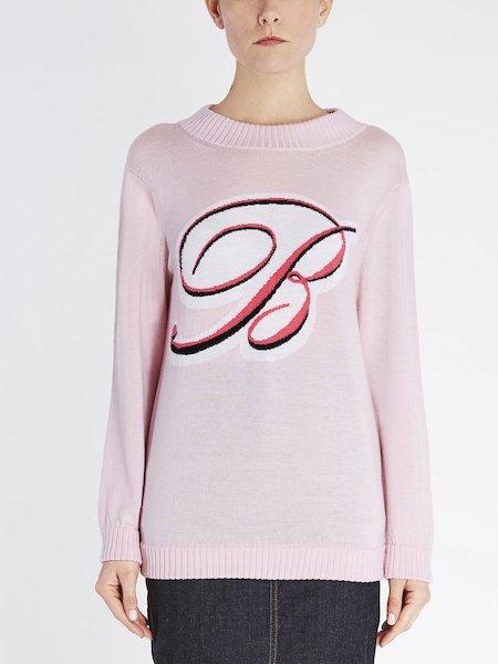 Pull en laine orné du grand logo «B» en caoutchouc