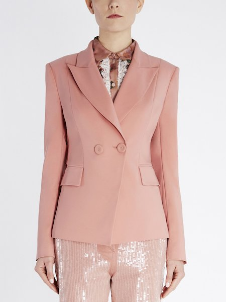 Double-breasted blazer - pink
