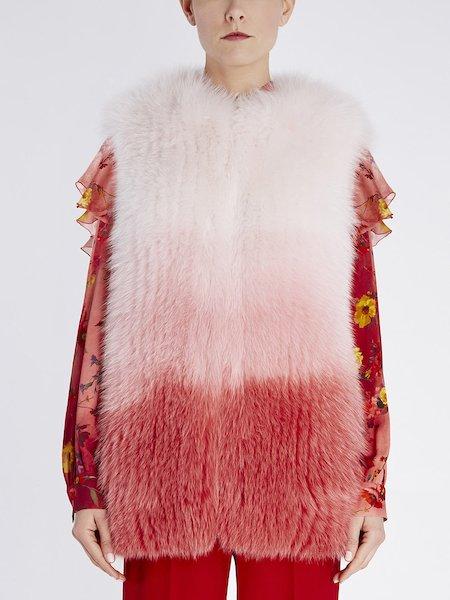 Waistcoat in dégradé fox