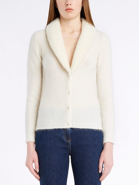 BluVi cardigan with jewel buttons - white