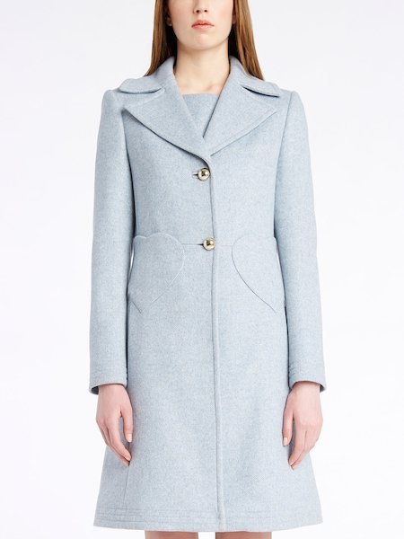 Single-breasted overcoat with heart pockets