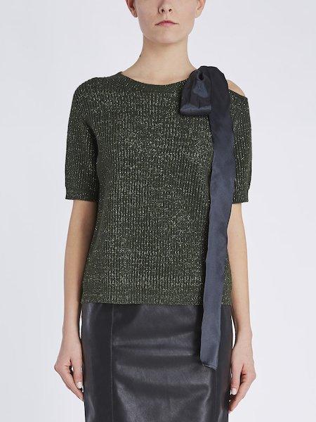 Pullover mit kurzen Ärmeln und großer Schleife