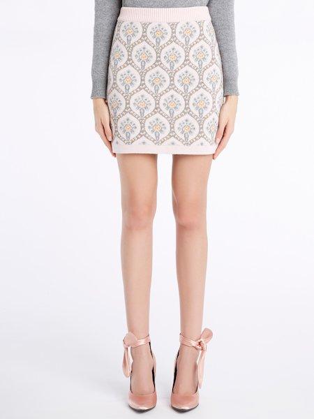 Knit miniskirt - rosa