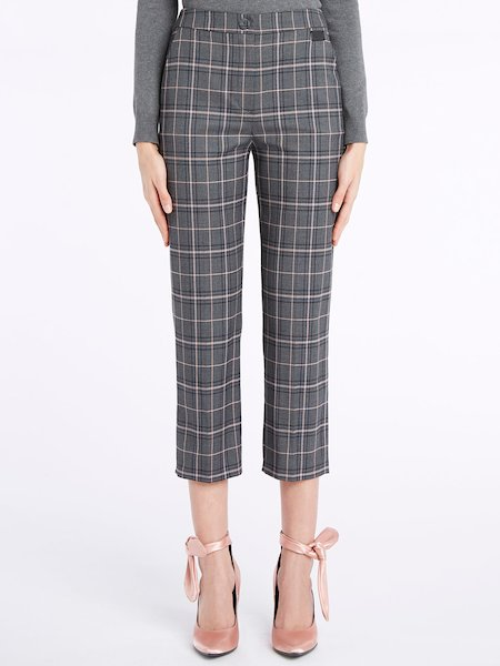 Pantalon cropped prince-de-Galles