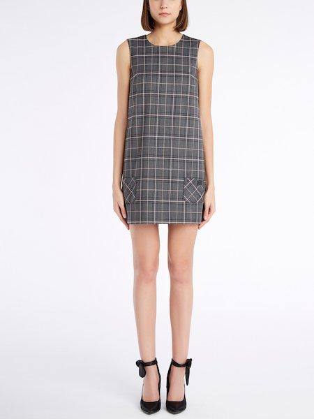 Sleeveless Glen Plaid dress - Grau