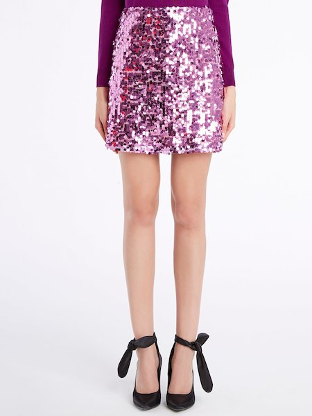 Sequinned miniskirt - rosa