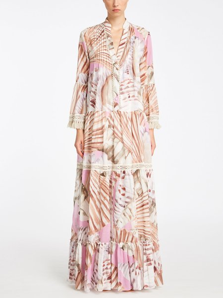 Long dress with shell print