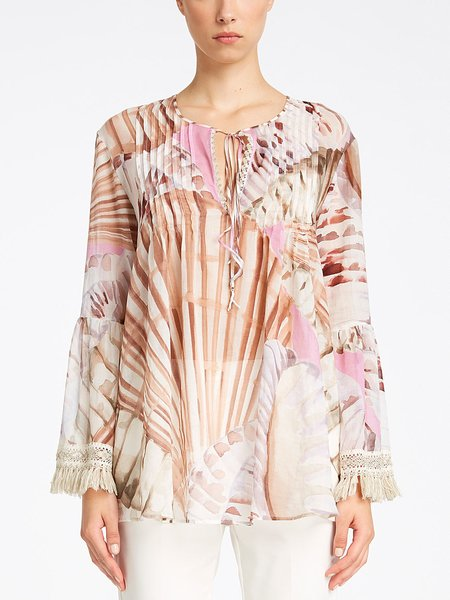 Blouse with shell print