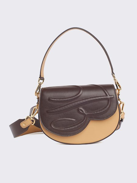 Handbag with embossed logo