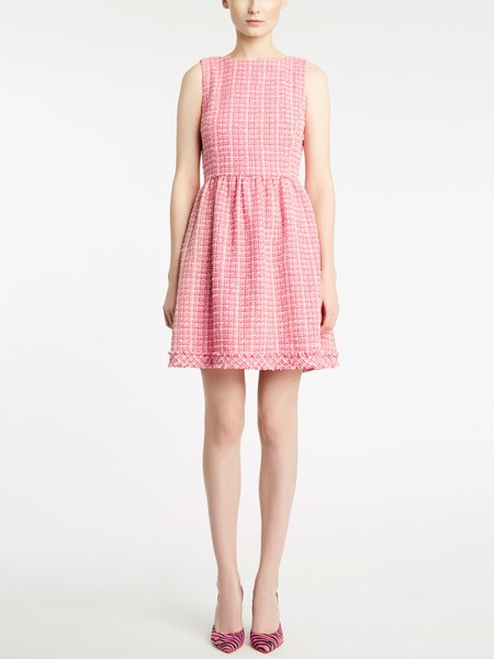 Sleeveless bouclé dress
