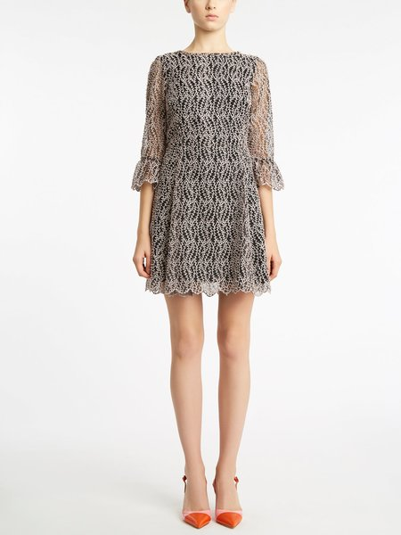 Платье из вышитой органзы с пайетками