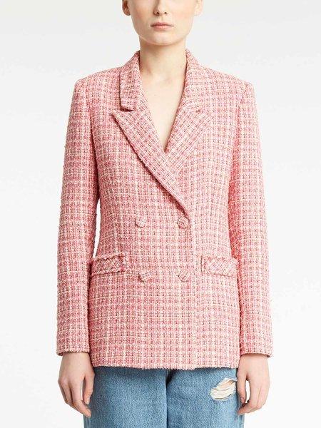 Двубортный пиджак из букле
