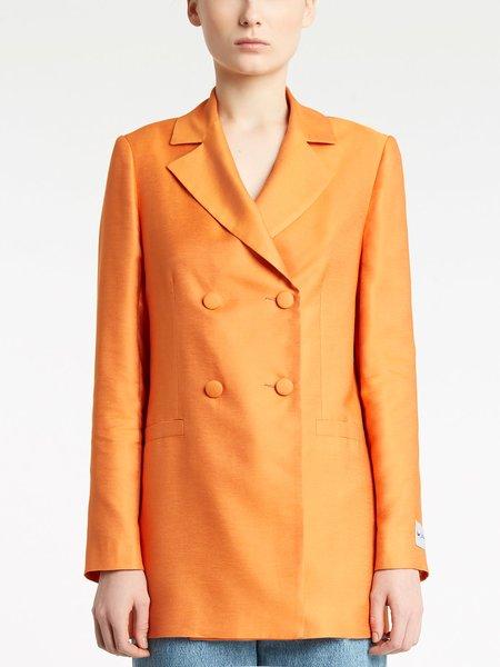 Zweireihige Jacke mit bezogenen Knöpfen