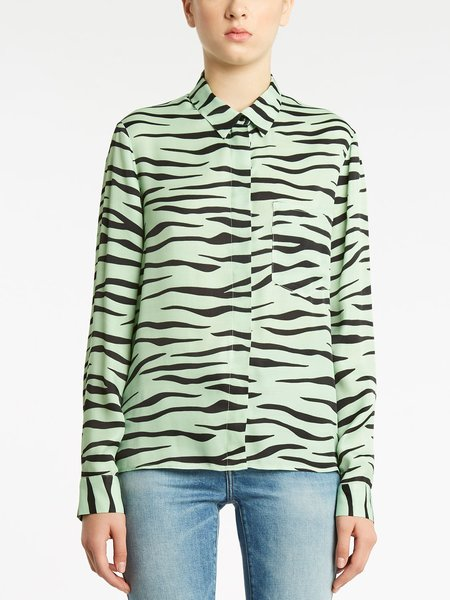 Zebra print long-sleeved shirt