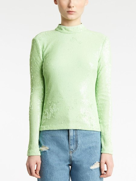 Sequined mock-turtleneck - Green