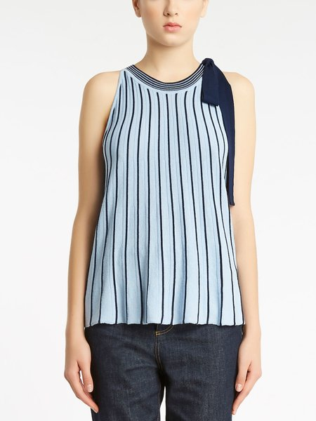 Two-tone striped knitted top