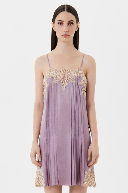 Vestido combinación con encaje