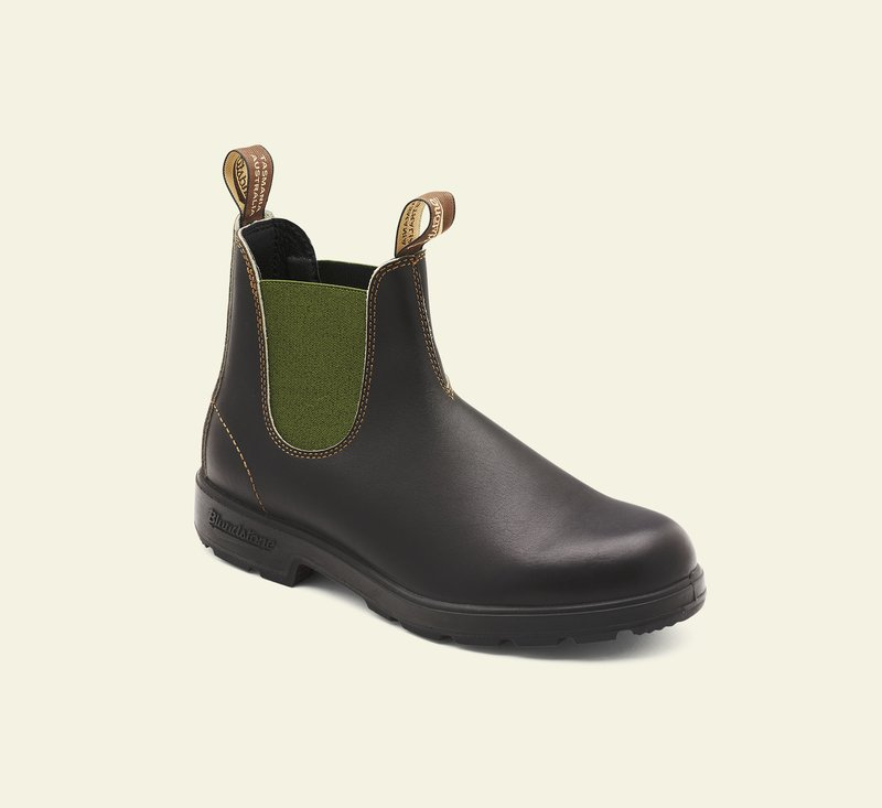 Boots #519 - ORIGINALS SERIES - Brown Leather & Sage