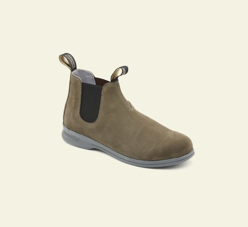 Boots #1397 - ACTIVE SERIES - Olive Suede