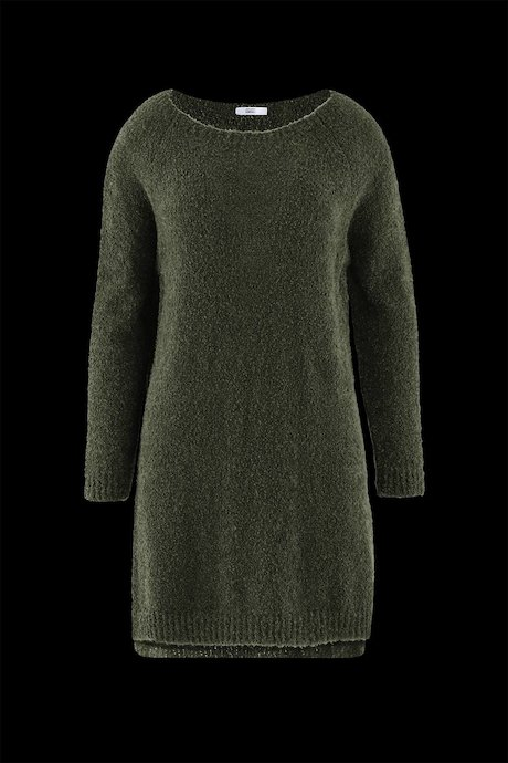 Knitted Bouclé Dress with Slits