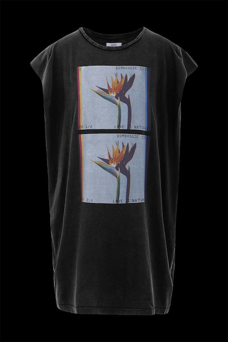 T-shirt con Stampa Crow on City