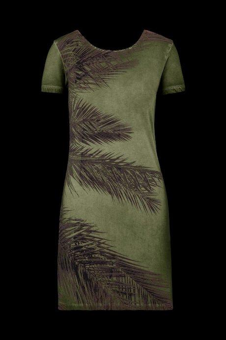 Kleid mit Rückenausschnitt und Palms Druck