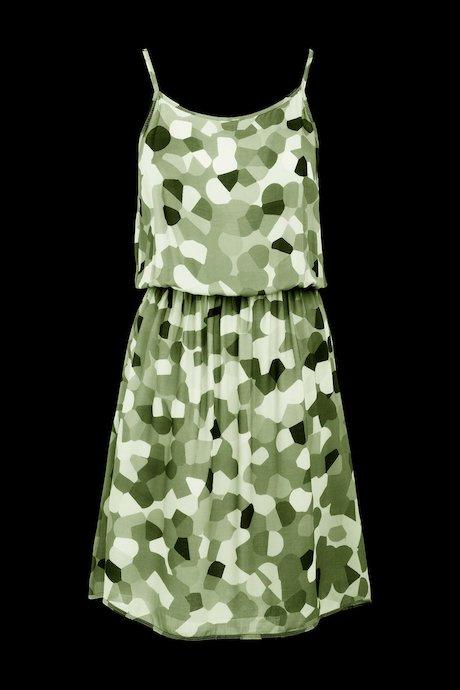 Camo Kleid mit Trägern