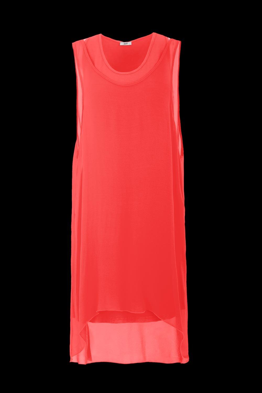 Bi material dress fit over