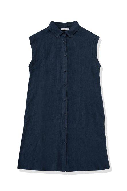 Shirt dress in linen